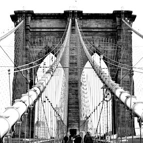 BROOKLYN BRIDGE NYC by Jamie Auletta - Buildings & Architecture Bridges & Suspended Structures (  )