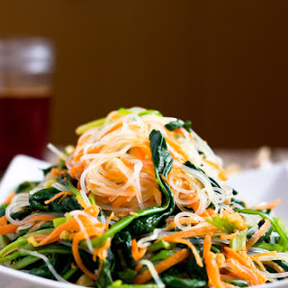 Spinach Carrot and Glass Noodle Salad