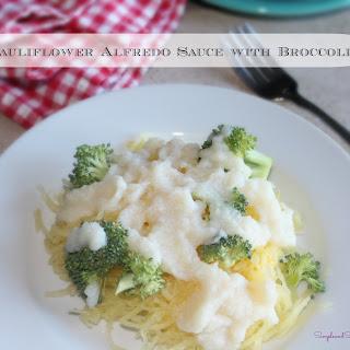 Cauliflower Alfredo Cream Sauce with Broccoli