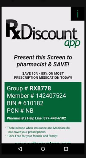Prescription Discount App