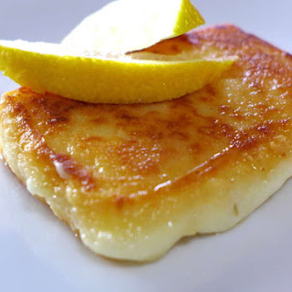 Saganaki recipe (Pan-seared Greek cheese appetizer).