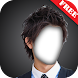 日本人男性のヘアスタイルカメラの写真モンタージュ