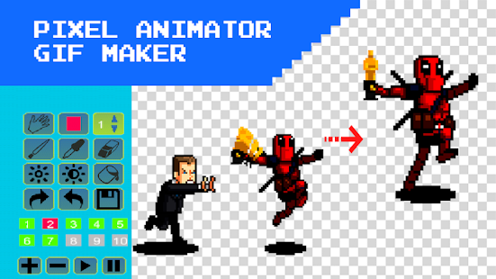 3D Pixel Animation Maker – MP4 Video And GIF Screenshot
