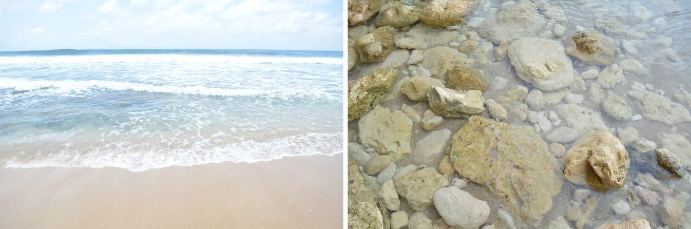 Pasir putih dan bersih pantai Seruni