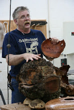 Photo: Finding the piece inside the burl can be a challenge.