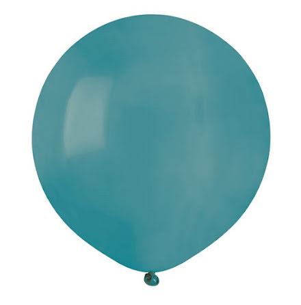 Ballonger helrunda 48 cm, turkosa