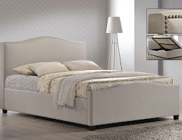 Stylish Fabric Side opening Ottoman Bedstead