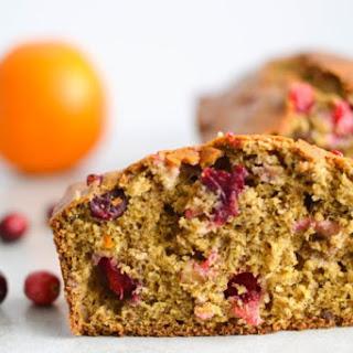 Healthy Ginger Orange Cranberry Bread.