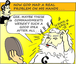 "Photo: Now God has a real problem on His hands: ""Gee, maybe these commandments weren't such a good idea after all..."""