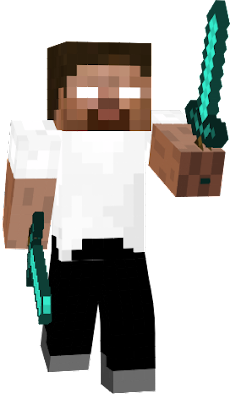 Herobrine the Hero protects the village to fight of Monsters