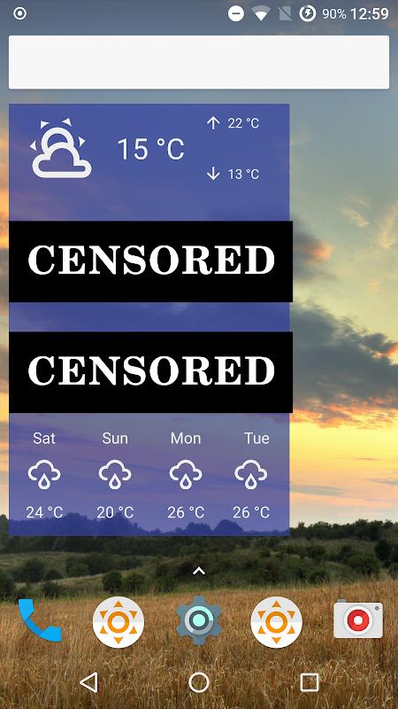 Fu*** Weather (Funny Weather) screenshots
