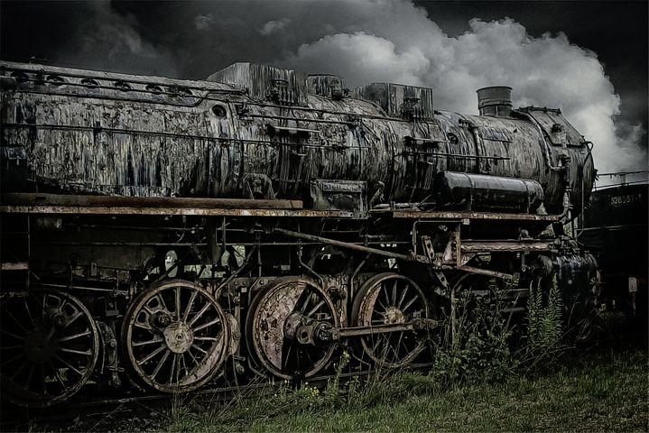 Train, Railway, Old, Abandoned, Outdated