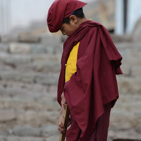 Meditating Monk by Abhishek Majumdar - Babies & Children Child Portraits ( madhur, sarbajit, vikram, prithvi, nitesh )