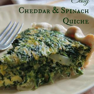 Easy Cheddar & Spinach Quiche.