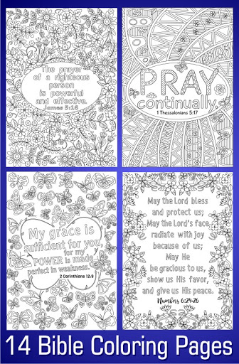 14 Bible Coloring Pages