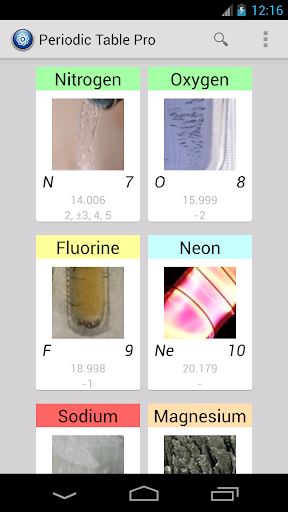periodic table pro screenshot 1 - Periodic Table Pro Apk Free