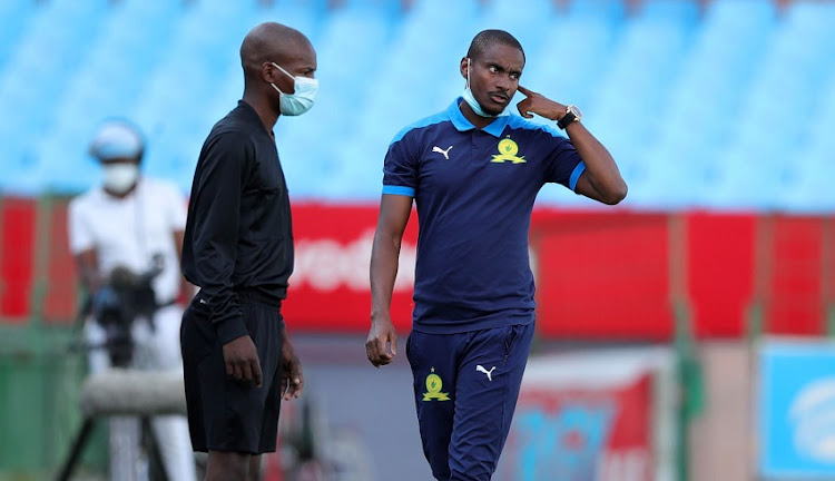 Rhulani Mokwena, assistant coach of Mamelodi Sundowns during the Nedbank Cup, Last 16 match between Mamelodi Sundowns and Polokwane City at Loftus Versfeld Stadium on March 10, 2021 in Pretoria, South Africa.