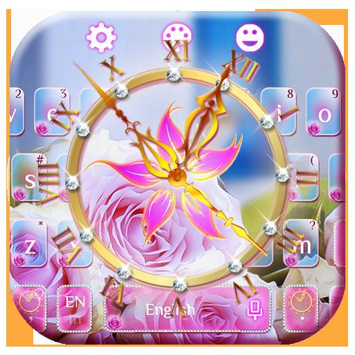 Rose Clock Diamond Keyboard