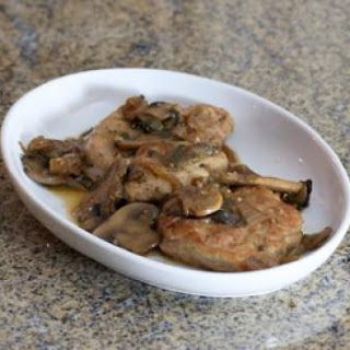 Pork Tenderloin with Mushrooms and Caramelized Onions.