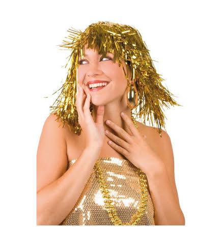 Glitterperuk, guld