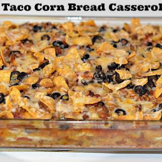 Taco Corn Bread Casserole.
