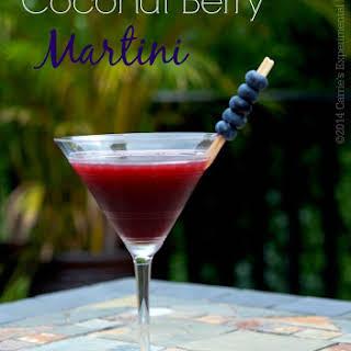 Coconut Berry Martini.