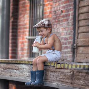 I love milk by Piotr Owczarzak - Babies & Children Children Candids ( childhood, cute, childrens, boy, ramp )