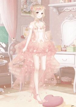 ピンクのレースドレス