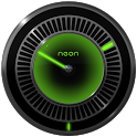 NEON GREEN Laser Clock Widget icon