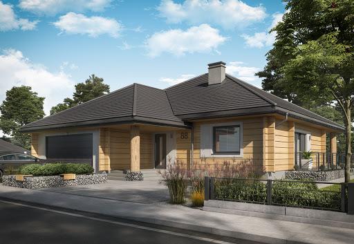 projekt Alexandria projekt domu z bali drewnianych