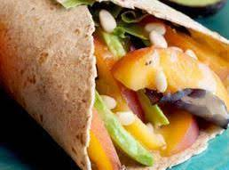 Peachy Avocado Wrap