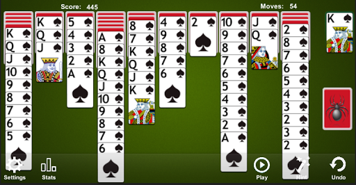 Spider Solitaire apkpoly screenshots 3