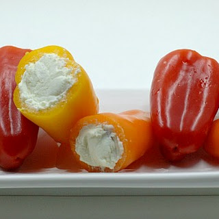 Bacon and Goat Cheese Stuffed Mini Peppers.