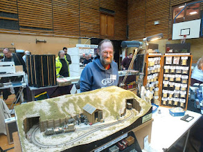 Photo: 006 Spotlight on the traders 4. Good to see Steve Bennett back in action after a period of illness. Steve is very well known in the specialist world of Gn15 scale for his Black Dog and Black Cat ranges of resin kits . .