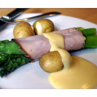 Ham Asparagus Hollandaise.