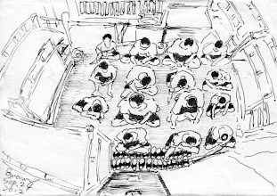 Photo: 準備開封!2012.09.24鋼筆 拖鞋擺整齊 人人都坐定 一天又開始 大家上工去