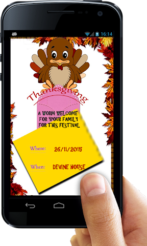 android Thanksgiving Invitation Letter Screenshot 6