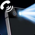 FlashLight alert on call sms icon