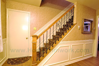 Photo: (After) Tarleki's Foyer Banister Collegeville, PA