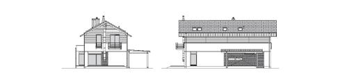 Współczesny 2 - Elewacja tylna i boczna