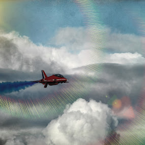 Weymouth Festival 2011 by Peter Wyatt - Transportation Airplanes ( weymouth, red, airoplanes, redarrow, jet )