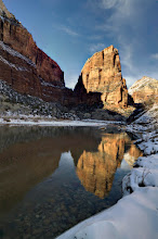 Photo: Angels Landing at sunrise, Zion national Park in a very cold morning!