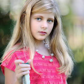 Chloe's Pink Dress by Sylvester Fourroux - Babies & Children Child Portraits