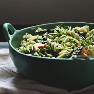 Grilled Asparagus + Nectarine Pasta Salad
