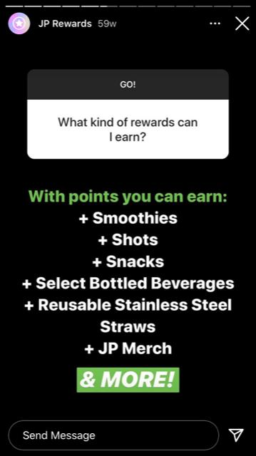 instagram question sticker rewards