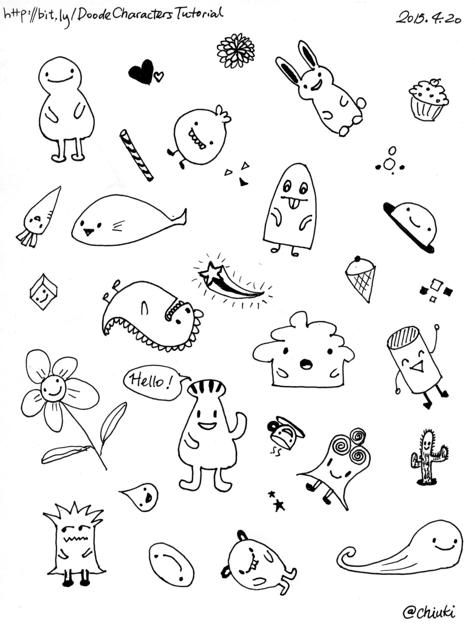 Photo: Doodle fun!http://bit.ly/DoodleCharactersTutorial