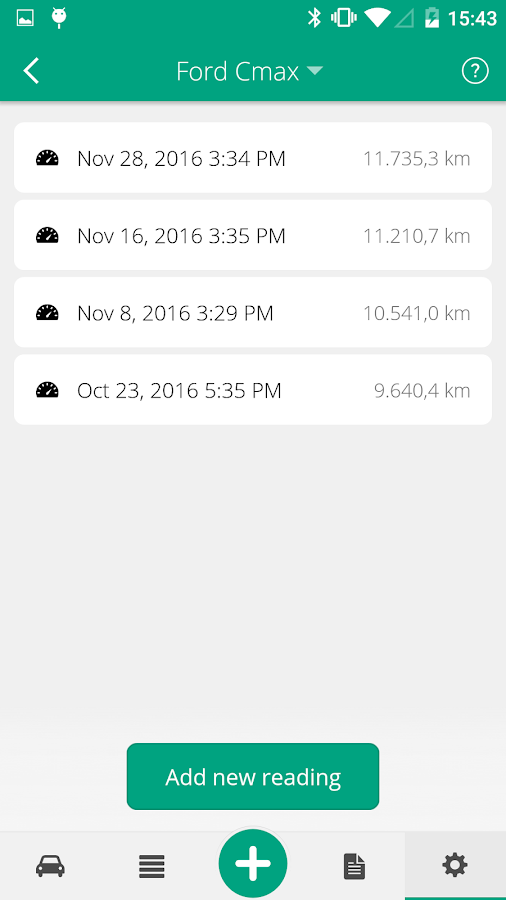 Driversnote Mileage Logbook- screenshot