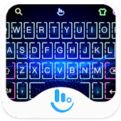 Neon Hologram Keyboard Theme