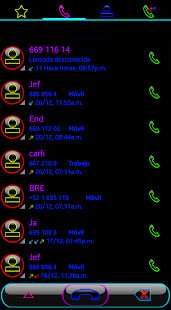 THEME SWIPE DIALER GLOW COLORS - náhled