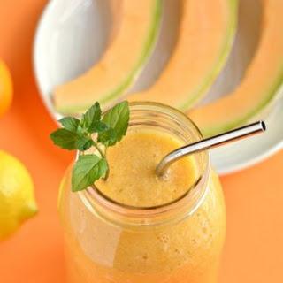 Cantaloupe Mint Citrus Smoothie.